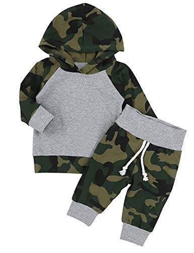 KONFA Hooded Sweatshirt Fall Clothes Set for 1-6 Years Little Kids Toddler Baby Boys Girls Letter Print Hoodie Pullover Tops