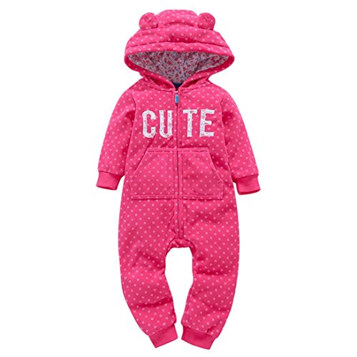 92864d3bd128f Hoodies & Active – Mandystore Infant Kid Clothes Baby Boys Girls Thicker  Print Hooded Romper Jumpsuit Outfit (9-12 Months, Hot Pink) Offers